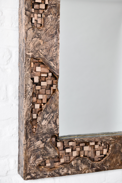 Michele Balestra bronze sculptural mirror - 943792