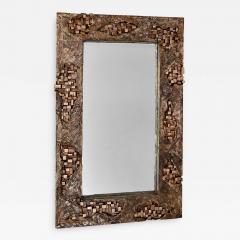 Michele Balestra bronze sculptural mirror - 945828