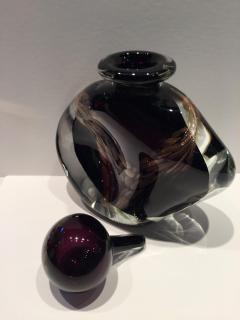 Michele Luzoro Michele Luzoro French Massive Purple Gold Fleck Perfume Bottle - 1681285