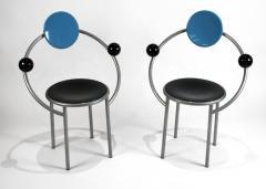 Michele de Lucchi 1980s First Chairs by Memphis Milano Designer Michele De Lucchi - 747840