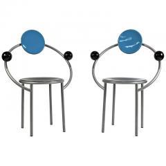 Michele de Lucchi 1980s First Chairs by Memphis Milano Designer Michele De Lucchi - 747841
