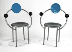 Michele de Lucchi 1980s First Chairs by Memphis Milano Designer Michele De Lucchi - 747842