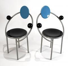 Michele de Lucchi 1980s First Chairs by Memphis Milano Designer Michele De Lucchi - 747843