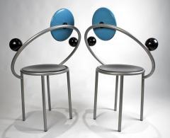 Michele de Lucchi 1980s First Chairs by Memphis Milano Designer Michele De Lucchi - 747844