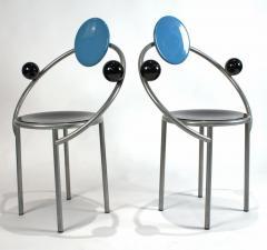 Michele de Lucchi 1980s First Chairs by Memphis Milano Designer Michele De Lucchi - 747845