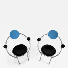 Michele de Lucchi 1980s First Chairs by Memphis Milano Designer Michele De Lucchi - 748943