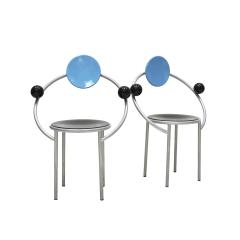 Michele de Lucchi Set of Two Chairs Mod First Designed by Michele de Lucchi for Memphis Milano - 2136080