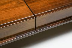 Michelluci walnut coffee table with storage 1970s - 1638195