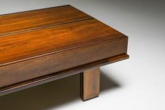 Michelluci walnut coffee table with storage 1970s - 1638196