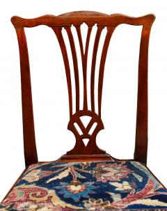 Mid 18th Century American Walnut Chippendale Chairs with Ushak Seats - 1708345