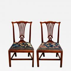 Mid 18th Century American Walnut Chippendale Chairs with Ushak Seats - 1709495