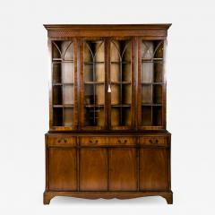Mid 19th Century English Mahogany Wood Hutch Cabinet - 1039757