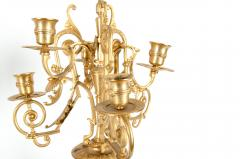 Mid 19th Century Gilt Bronze Five Arms Candelabra - 1170923