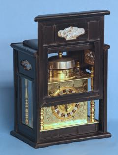 Mid 19th Century Japanese Bracket Clock with Original Case - 1184110
