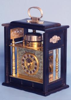 Mid 19th Century Japanese Bracket Clock with Original Case - 1184112