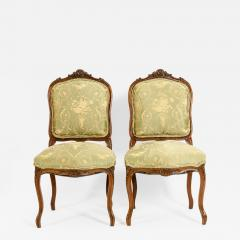 Mid 19th Century Mahogany Wood Frame Side Chairs - 1129031