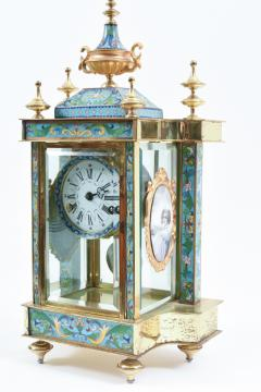 Mid 20th Century Brass or Glass Frame Mantel Clock - 944937