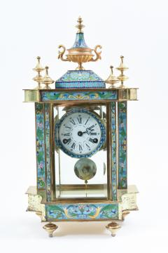 Mid 20th Century Brass or Glass Frame Mantel Clock - 944938