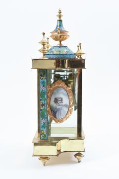 Mid 20th Century Brass or Glass Frame Mantel Clock - 944939