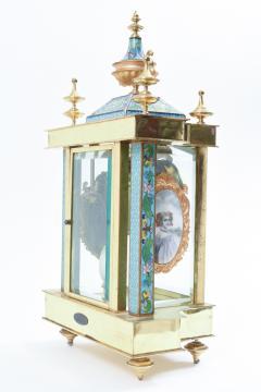 Mid 20th Century Brass or Glass Frame Mantel Clock - 944940