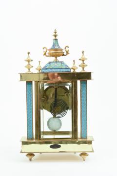 Mid 20th Century Brass or Glass Frame Mantel Clock - 944942