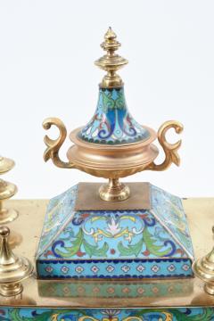Mid 20th Century Brass or Glass Frame Mantel Clock - 944943