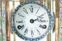 Mid 20th Century Brass or Glass Frame Mantel Clock - 944944