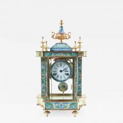 Mid 20th Century Brass or Glass Frame Mantel Clock - 945800
