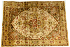 Mid 20th Century Hand Knotted Silk Area Rug - 1169224