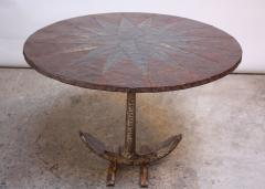 Mid 20th Century Mixed Metal Nautical Anchor Dining Table - 381424