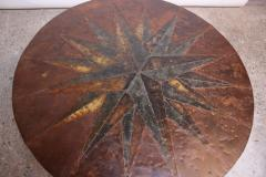 Mid 20th Century Mixed Metal Nautical Anchor Dining Table - 381425