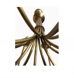 Mid 20th Century Modern Twelve Light Brass Chandelier - 602528