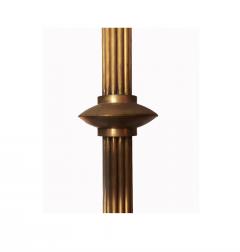Mid 20th Century Modern Twelve Light Brass Chandelier - 602529
