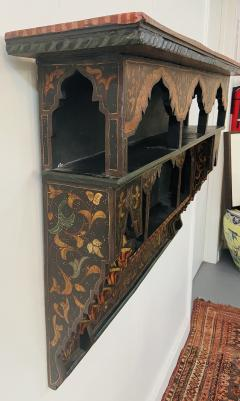 Mid 20th Century Moroccan Wall Shelf or Spice Rack - 1638894