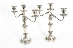 Mid 20th Century Pair Plated Candelabras - 1130368