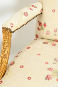 Mid 20th Century Pair of Giltwood Frame George II Style Armchairs - 1131530