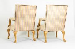 Mid 20th Century Pair of Giltwood Frame George II Style Armchairs - 1131536