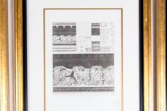 Mid 20th Century Set Three Lithograph Giltwood Frame - 1038260