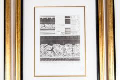 Mid 20th Century Set Three Lithograph Giltwood Frame - 1038261