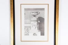Mid 20th Century Set Three Lithograph Giltwood Frame - 1038264