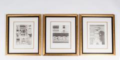 Mid 20th Century Set Three Lithograph Giltwood Frame - 1038268