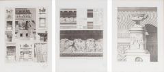 Mid 20th Century Set Three Lithograph Giltwood Frame - 1039768