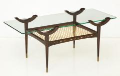 Mid 20th Century Stained Beechwood Two Tiered Cocktail Table - 900048