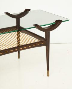 Mid 20th Century Stained Beechwood Two Tiered Cocktail Table - 900049