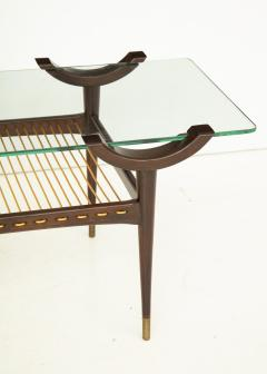 Mid 20th Century Stained Beechwood Two Tiered Cocktail Table - 900052