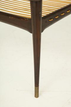 Mid 20th Century Stained Beechwood Two Tiered Cocktail Table - 900061