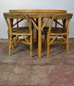 Mid Century Bamboo Dining Set - 1101659