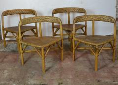 Mid Century Bamboo Dining Set - 1101672