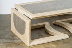 Mid Century Bleached Oak Adjustable Cocktail Table - 1286110