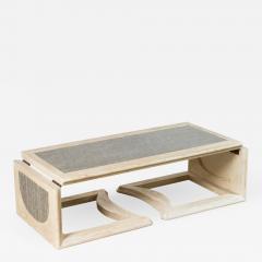 Mid Century Bleached Oak Adjustable Cocktail Table - 1288991